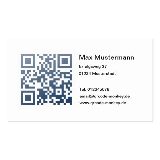 Visiting card (individually shapable) business card