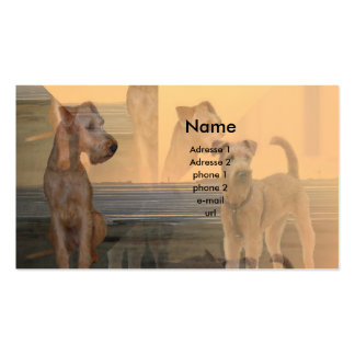 "Visiting card ""Irish Terrier """