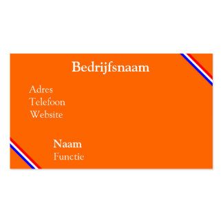 Visiting card orange with rood~wit~blauw line business card