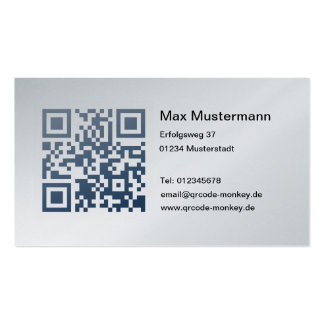 Visiting card, platinum (individually shapable) business card