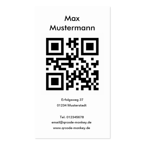 Visiting card, portrait format (individually shapa business cards