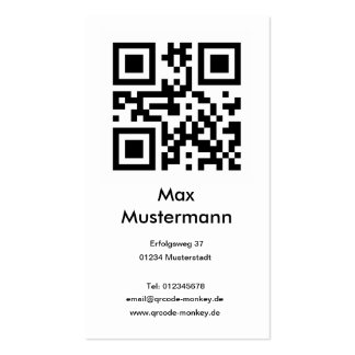 Visiting card, portrait format (individually shapa business card template