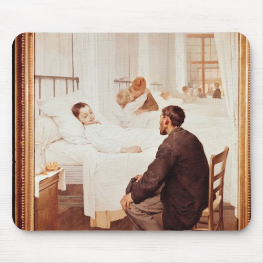 Visiting Day at the Hospital, 1889 Mouse Pad