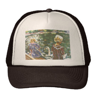 Visiting Swans Hat