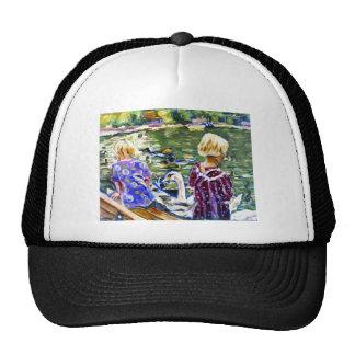 Visiting Swans Trucker Hat