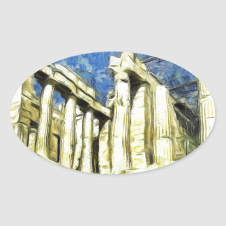 Visiting the Acropolis in Athens Oval Sticker