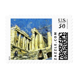 Visiting the Acropolis in Athens Postage