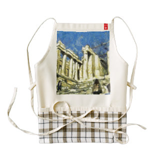 Visiting the Acropolis in Athens Zazzle HEART Apron