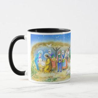 Visiting the Christ child in Bethlehem Mug