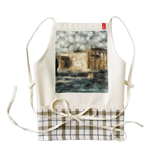 Visiting the site of the Acropolis Zazzle HEART Apron