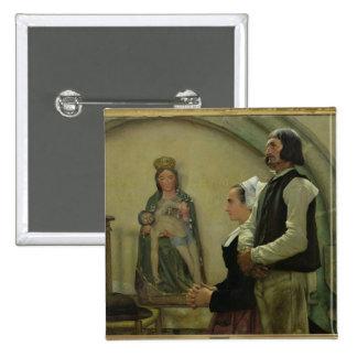 Visiting the Virgin of Benodet, 1898 Button