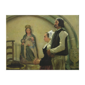 Visiting the Virgin of Benodet, 1898 Canvas Print