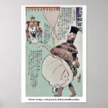 Visitor brings a telegram by Kobayashi,Kiyochika Poster