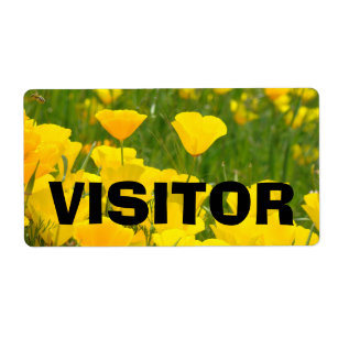 visitor name tags labels zazzle