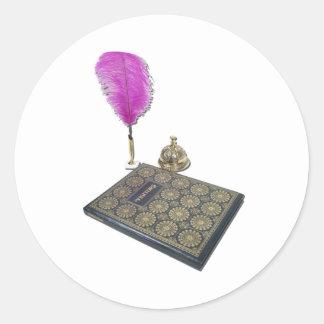 VisitorBookPenServiceBell051211 Classic Round Sticker