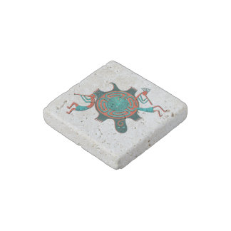 Visitors Anasazi Native Folk Art Stone Magnet