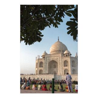 Visitors at Taj Mahal, Agra, India Stationery
