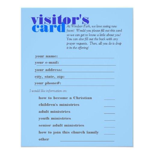 visitor's card custom flyer