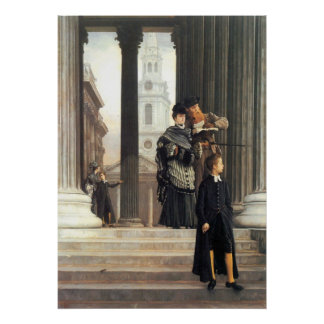 Visitors in London by James Tissot Poster