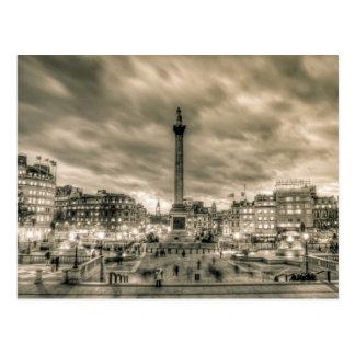 Visitors in Trafalgar Square, London Postcard
