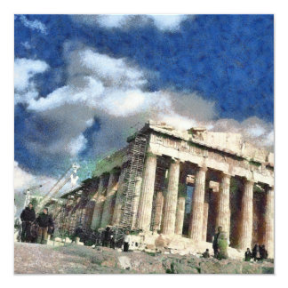 Visitors to Acropolis in Athens Card