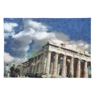 Visitors to Acropolis in Athens Cloth Placemat