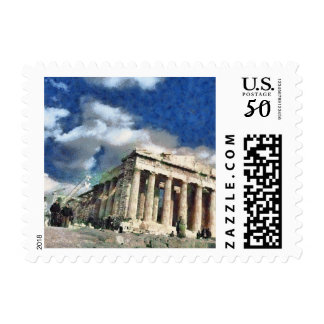 Visitors to Acropolis in Athens Postage