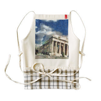 Visitors to Acropolis in Athens Zazzle HEART Apron