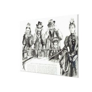 Visitors to the Paris Exhibition Canvas Print