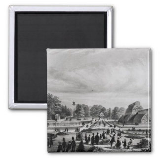 Visitors viewing the Palm House at Kew Palace, c.1 2 Inch Square Magnet
