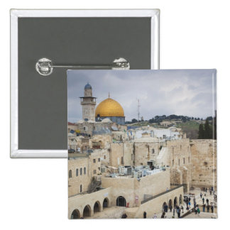 Visitors, Western Wall Plaza & Dome of the Rock 2 Inch Square Button