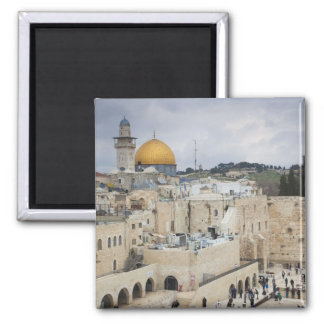 Visitors, Western Wall Plaza & Dome of the Rock 2 Inch Square Magnet