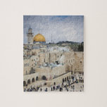 """Visitors, Western Wall Plaza &amp; Dome of the Rock Jigsaw Puzzle<br><div class=""""desc"""">Walter Bibikow\\COPYRIGHT Walter Bibikow / DanitaDelimont.com   Israel,  Jerusalem,  Old City,  visitors to Western Wall Plaza and the Dome of the Rock   AssetID: AS14 WBI0177</div>"""
