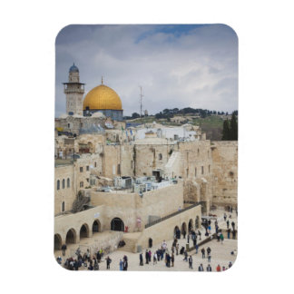 Visitors, Western Wall Plaza & Dome of the Rock Rectangular Photo Magnet