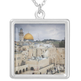 Visitors, Western Wall Plaza & Dome of the Rock Silver Plated Necklace