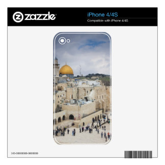 Visitors, Western Wall Plaza & Dome of the Rock Skin For The iPhone 4