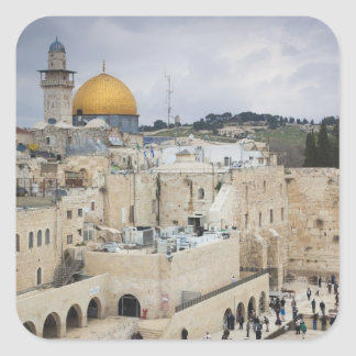 Visitors, Western Wall Plaza & Dome of the Rock Square Sticker