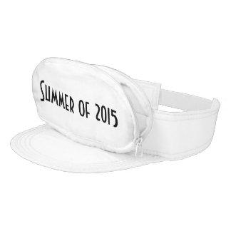 Visor Cap-Sac fanny pack for head, Summer of 2015