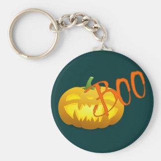 Víspera de todos los santos Boo calabaza pumpkin Llavero Redondo Tipo Pin