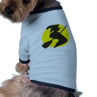 Víspera de todos los santos bruja voladora flying  tshirt de perrito