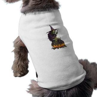 Víspera de todos los santos bruja witch tshirt de mascota