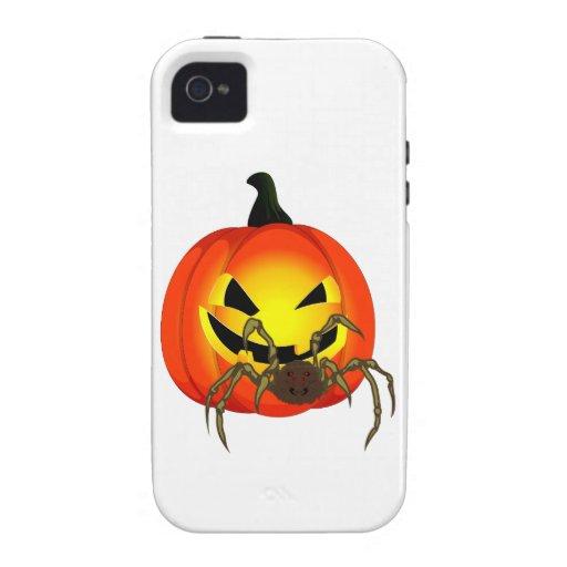 Víspera de todos los santos calabaza araña pumpkin iPhone 4/4S carcasas