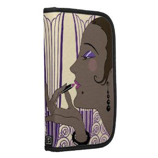 VÍSPERA, señora del art déco en crema y púrpura Organizador