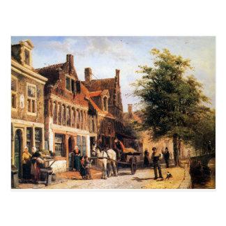 Vissersdijk in Enkhuizen by Cornelis Springer Postcard