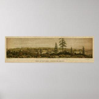 Vista 1860 de Victoria, Vancouver Póster