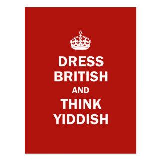 Vista a Británicos y piense el Yiddish Postal