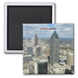 Vista aérea de Atlanta, Georgia Imán Cuadrado
