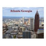 Vista aérea de Atlanta, Georgia Tarjeta Postal
