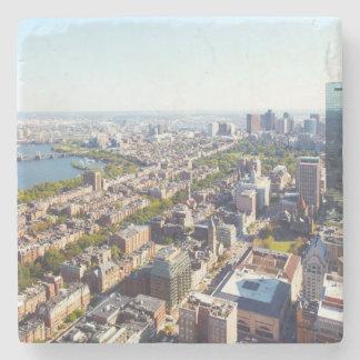 Vista aérea de Boston Posavasos De Piedra