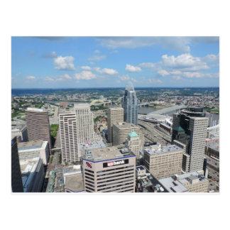 Vista aérea de Cincinnati céntrica Tarjeta Postal